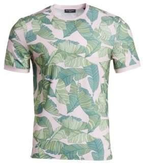 Saks Fifth Avenue MODERN Tropical Leaf Print Tee