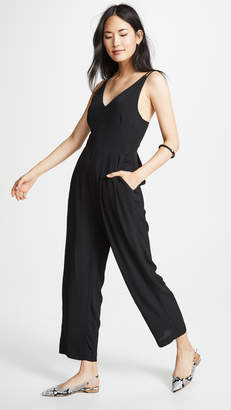 Madewell Solid V Neck Jumpsuit