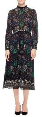 Sandro Grassette Printed A-Line Dress