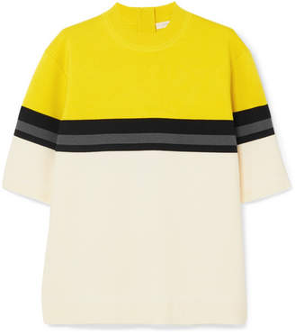 Marc Jacobs Oversized Striped Wool Sweater - Chartreuse
