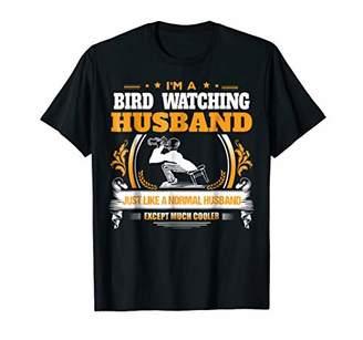 Mens Bird Watching Husband Tshirt Christmas Gift