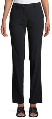 Etro Tab-Front Straight-Leg Stretch-Cady Pants