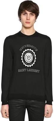 Saint Laurent Universite Jacquard Cashmere Sweater