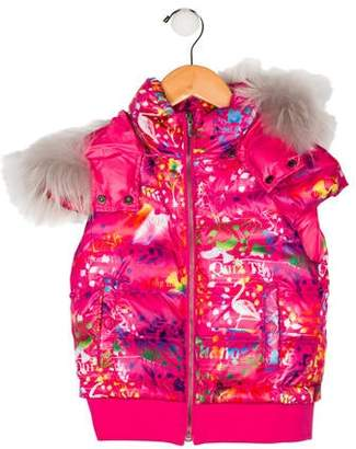 John Galliano Girls' Hooded Down Vest