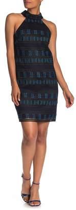 Trina Turk Estrella Crochet Lace Halter Sheath Dress
