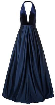 Jovani Velvet Halterneck Gown