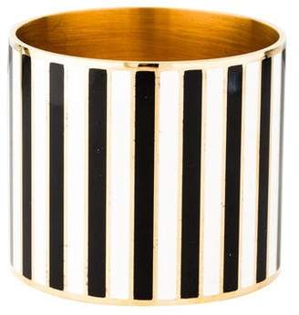 Givenchy Extra Large Striped Enamel Bangle