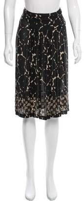 Dries Van Noten Embellished Silk Skirt
