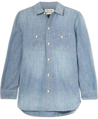 Madewell Ex-boyfriend Cotton-chambray Shirt - Blue