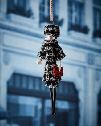 De Carlini Madeleine in Plaid Dress Christmas Ornament