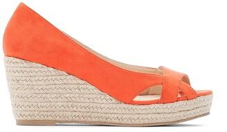 fd5582e5c1f CASTALUNA PLUS SIZE Wide Fit Faux Suede Woven Wedge Sandals