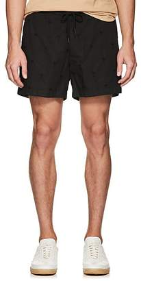 Tomas Maier MEN'S PALM-TREE-EMBROIDERED COTTON DRAWSTRING SHORTS