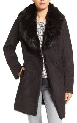 Women's Marc New York By Andrew Marc Faux Shearling Coat $450 thestylecure.com