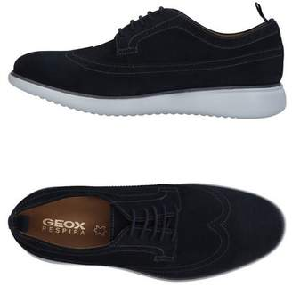 13482d530e019 Geox Blue Leather Shoes For Men - ShopStyle UK