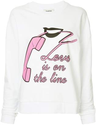 Yazbukey Love Is On The Line printed top