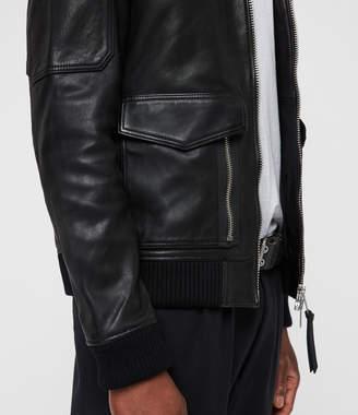 AllSaints Bardell Leather Aviator Jacket