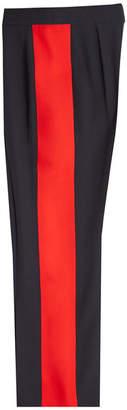 Alexander McQueen Wide Leg Pants with Tuxedo Stripes