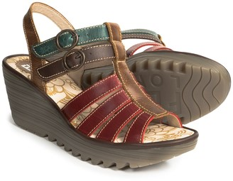 Fly London Ygor Sandals - Leather, Wedge Heel (For Women) $79.99 thestylecure.com