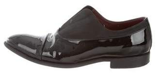 Celine Patent Leather Round Toe Loafers