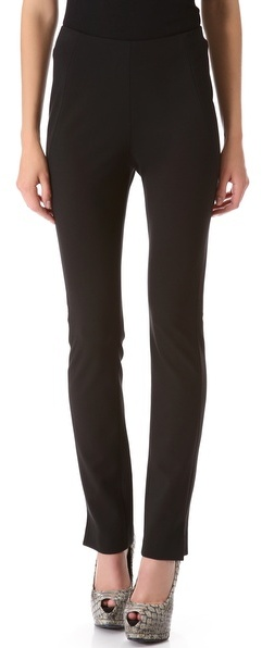 Donna Karan Slim Pants with Ankle Vents