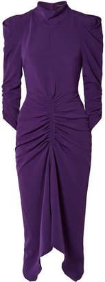 Isabel Marant Tizy Ruched Crepe Midi Dress - Purple