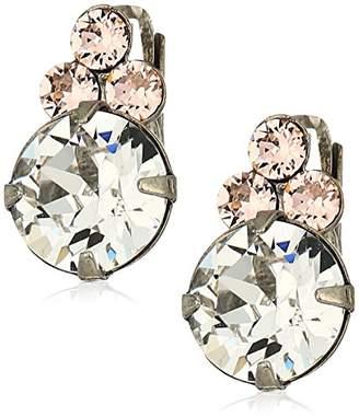 Sorrelli Womens Snow Bunny Dainty Circular Crystal Drop Earrings