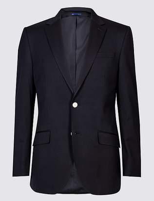 Marks and Spencer Wool Blend Textured Regular Fit Jacket