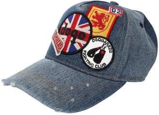 DSQUARED2 Patches Cotton Denim Hat