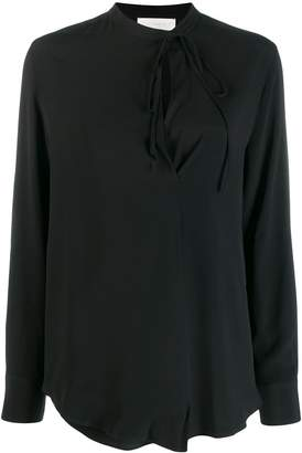 Incotex neck-tied blouse