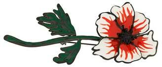 Sonia Rykiel enamel anemone brooch