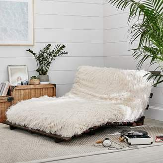 At PBteen · Pottery Barn Teen Furlicious Faux Fur Futon Set, Simply White,  Full