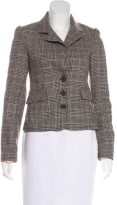 Juicy Couture Wool Plaid Blazer