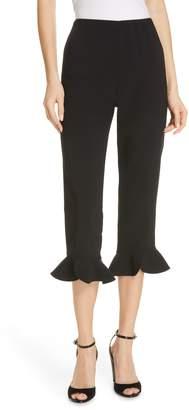 Alice + Olivia Alena Ruffle Hem Crop Pants