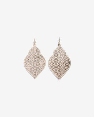 Express Filigree Glitter Drop Earrings