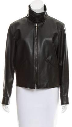 agnès b. Vegan Leather Zip Jacket