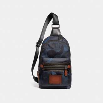Coach Academy Pack In Cordura Fabric With Wild Beast Print
