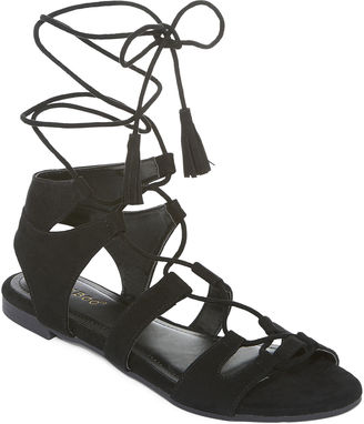 Bamboo Sacred Lace-Up Sandals $50 thestylecure.com