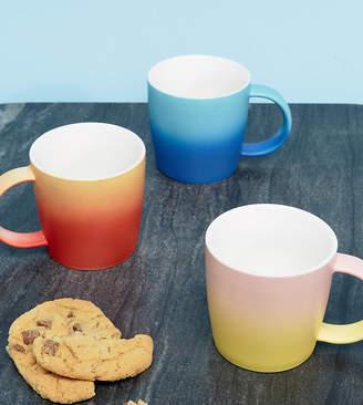 Root 7 Set of Three Ombre Ceramic Mugs Gift Set