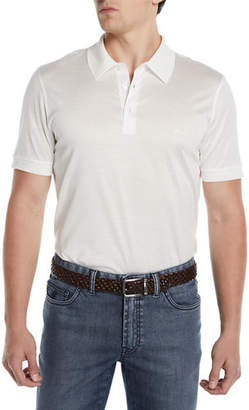 Brioni Men's Three-Button Jersey Polo Shirt