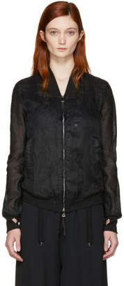 Boris Bidjan Saberi Black Cotton Bomber Jacket