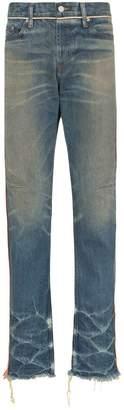 Nounion braided trim regular jeans
