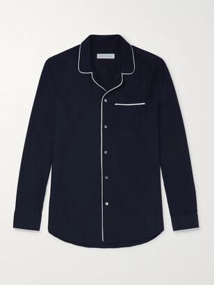 Desmond & Dempsey Brushed Cotton-Twill Pyjama Shirt - Men - Blue