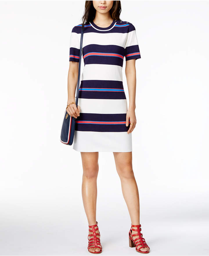 Tommy Hilfiger Striped Sweater Dress, Only at Macy's
