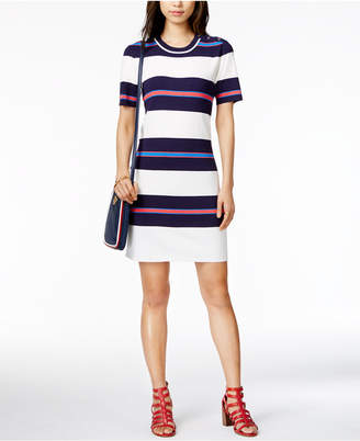 Tommy Hilfiger Striped Sweater Dress, Only at Macy's $99.50 thestylecure.com