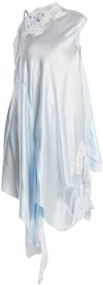 Vetements Deconstructed silk-satin slip dress