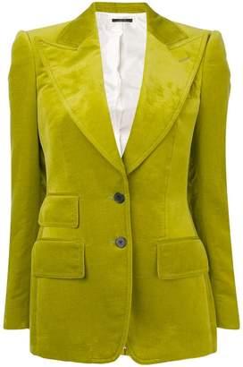 Tom Ford buttoned velvet blazer