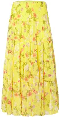 Lauren Ralph Lauren Moriah yellow floral skirt