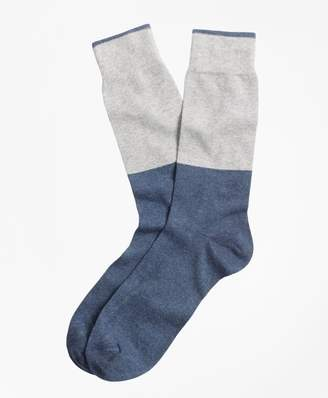 Brooks Brothers Color-Block Crew Socks