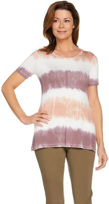 Logo By Lori Goldstein LOGO by Lori Goldstein Print Tie Dye Knit Top with Pockets