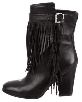 Sigerson Morrison Leather Fringe Boots